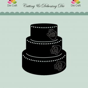 Die Craft Die figur med sort kage og lyseblå baggrund