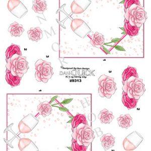 3d ark dan quick rødvinsglas og roser