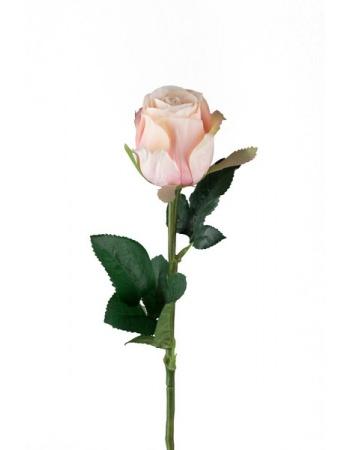 Rose stort hoved stilk 50 cm. lys rosa 9603-21