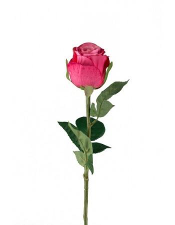 Rose stort hoved stilk 50 cm. Pink 9603-25
