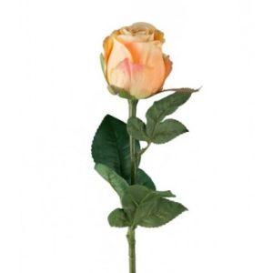 Rose stort hoved stilk 50 cm. Orange 9603-32