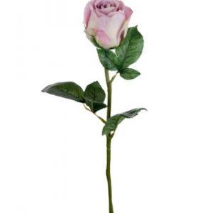Rose stort hoved stilk 50 cm. Lilla 9603-40