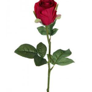 Rose stort hoved stilk 50 cm. Rød 9603-80