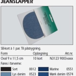 Jeanslapper 2 stk. sort 31239003