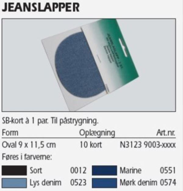 Jeanslapper 2 stk. sort 31239003