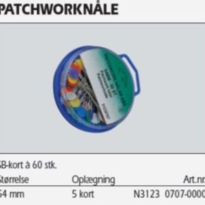 Patchwork nåle 54 mm 60 stk. 31230707 39k