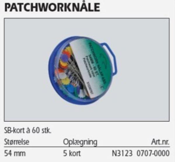 Patchwork nåle 54 mm 60 stk. 31230707 39k