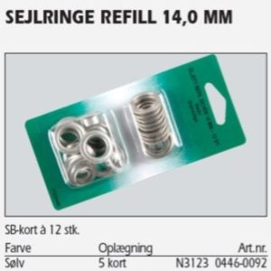 Sejlringe sølv 14 mm 12 stk. 31230446