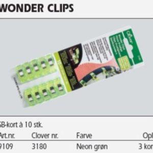 Wonder clips neon grøn 10 stk. 91093180 69k